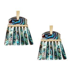 Kendra Scott abalone layne earrings